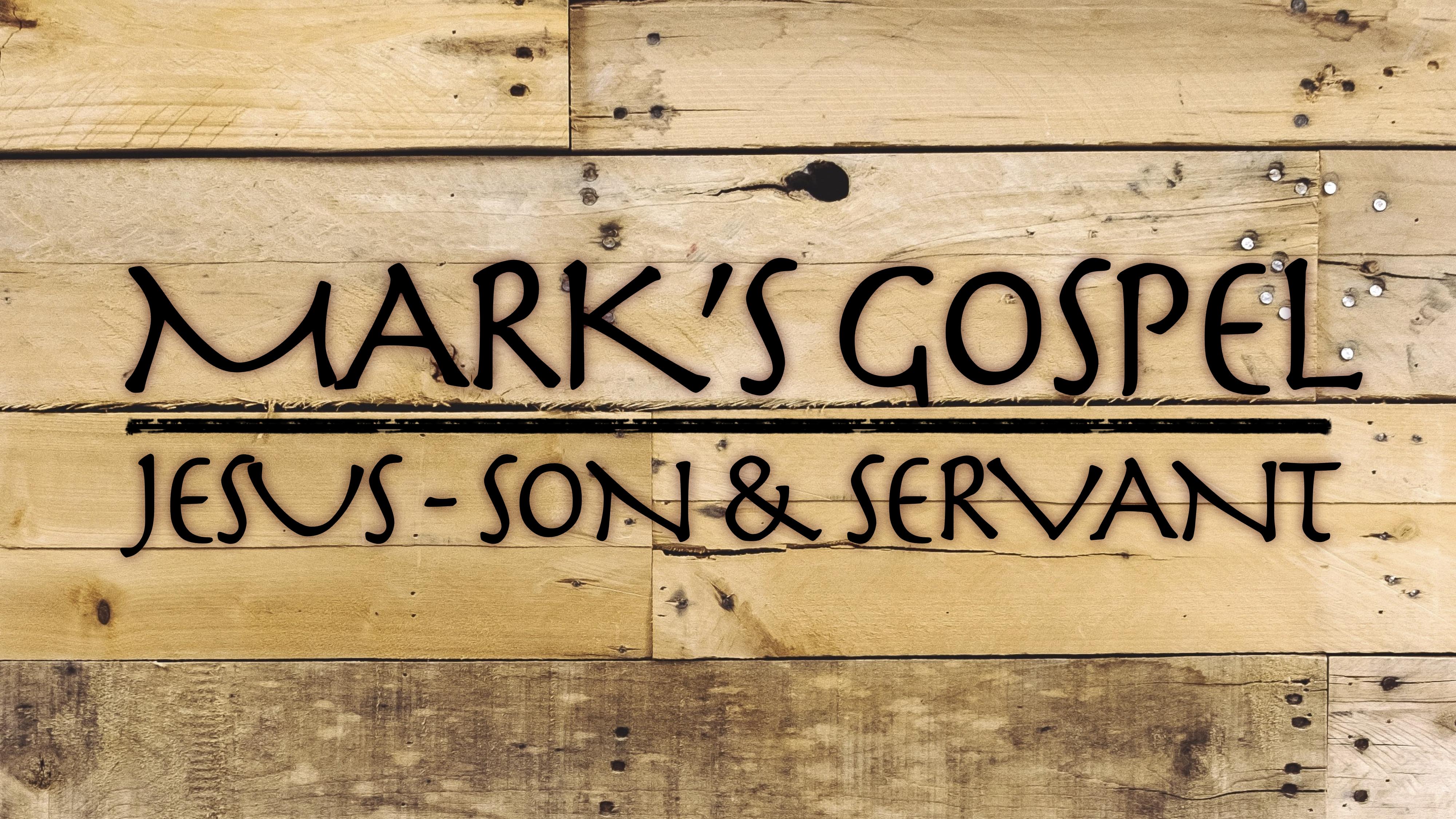 MARKS GOSPEL TITLE SLIDE